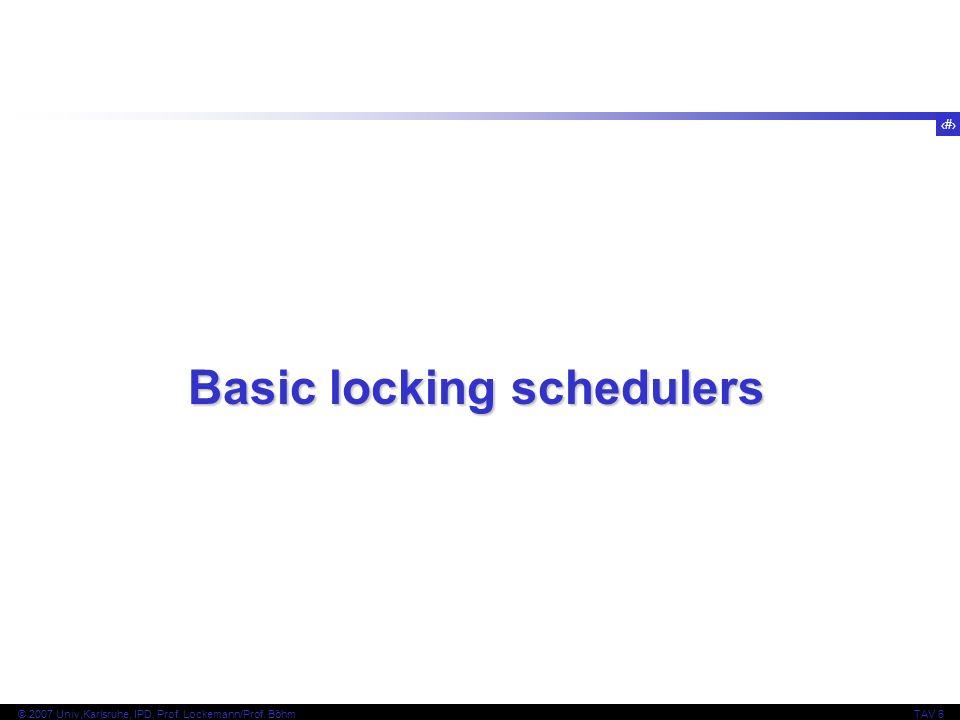 Basic locking schedulers