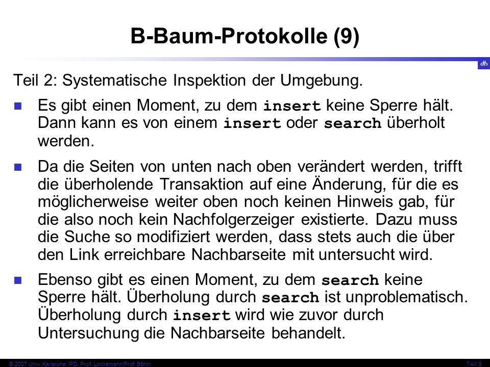 B-Baum-Protokolle (9) Teil 2: Systematische Inspektion der Umgebung.