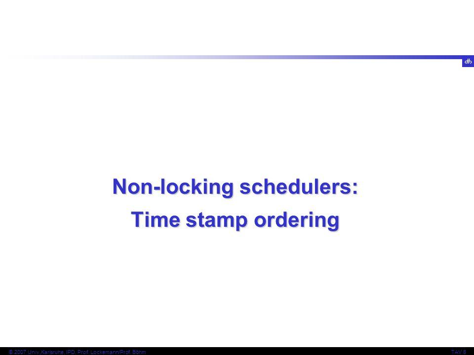 Non-locking schedulers: