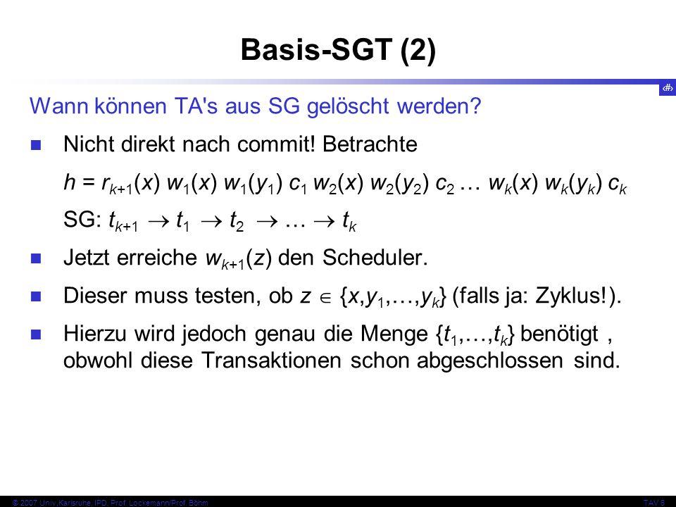 Basis-SGT (2) Wann können TA s aus SG gelöscht werden