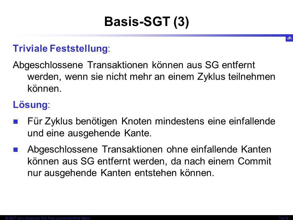 Basis-SGT (3) Triviale Feststellung: