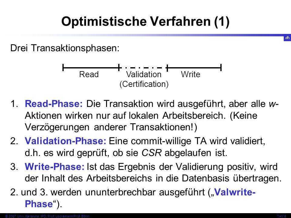 Optimistische Verfahren (1)