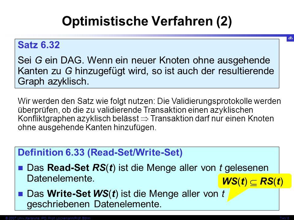 Optimistische Verfahren (2)