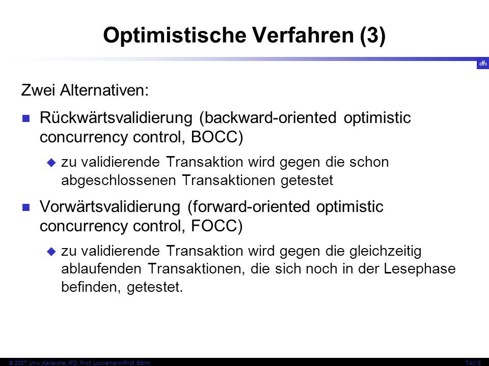 Optimistische Verfahren (3)