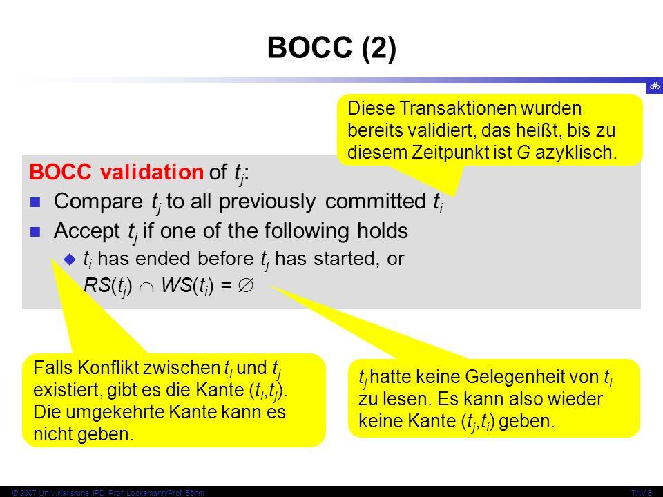 BOCC (2) BOCC validation of tj: