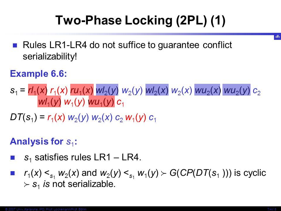 Two-Phase Locking (2PL) (1)