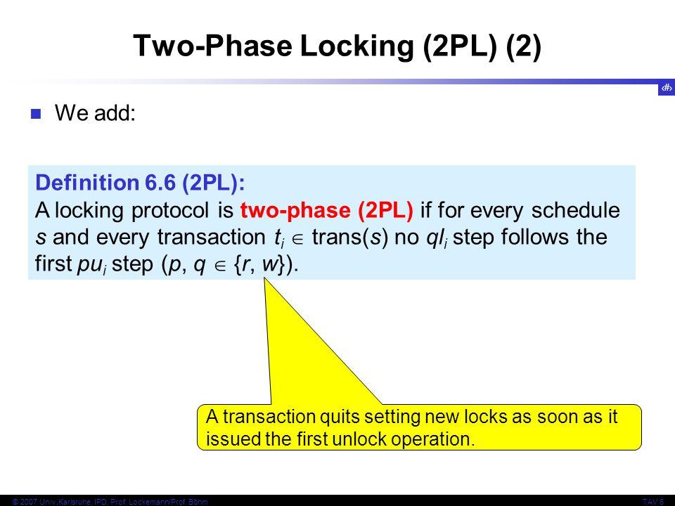 Two-Phase Locking (2PL) (2)