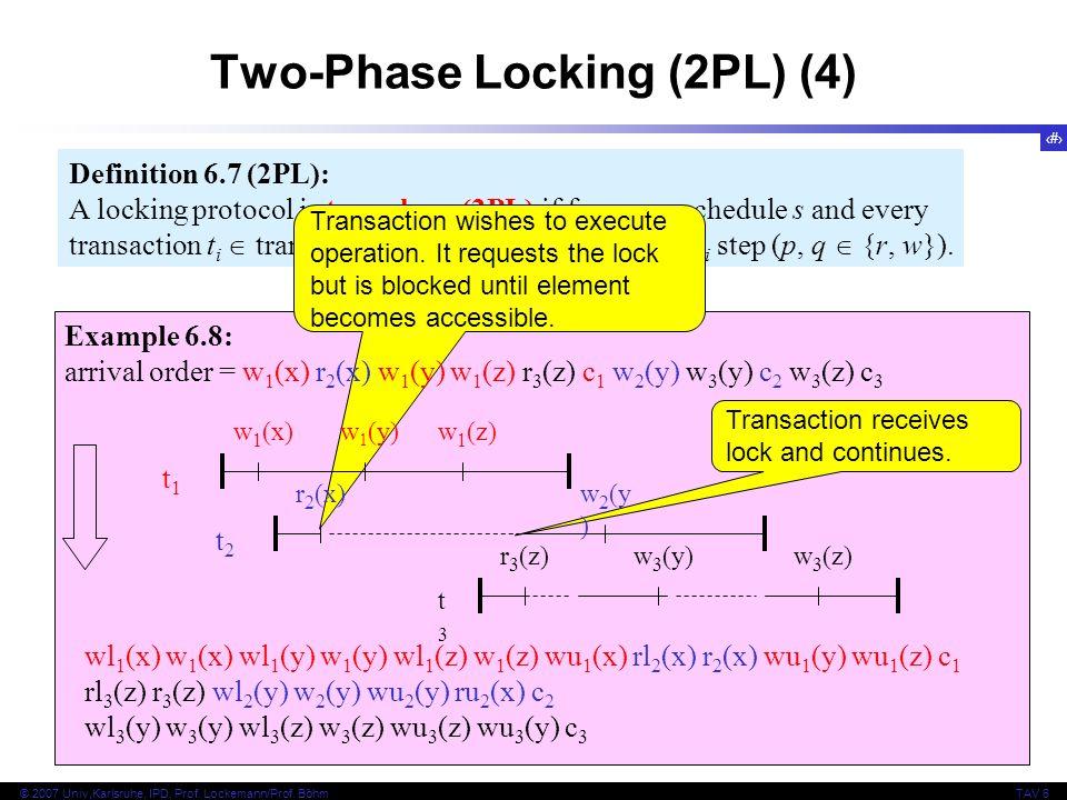 Two-Phase Locking (2PL) (4)