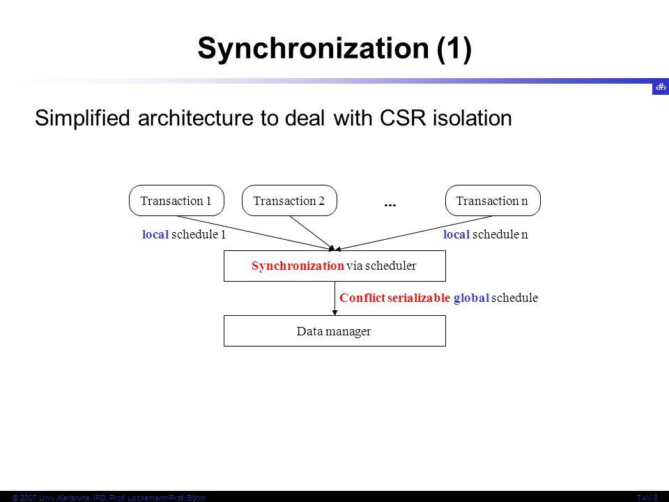 Synchronization via scheduler