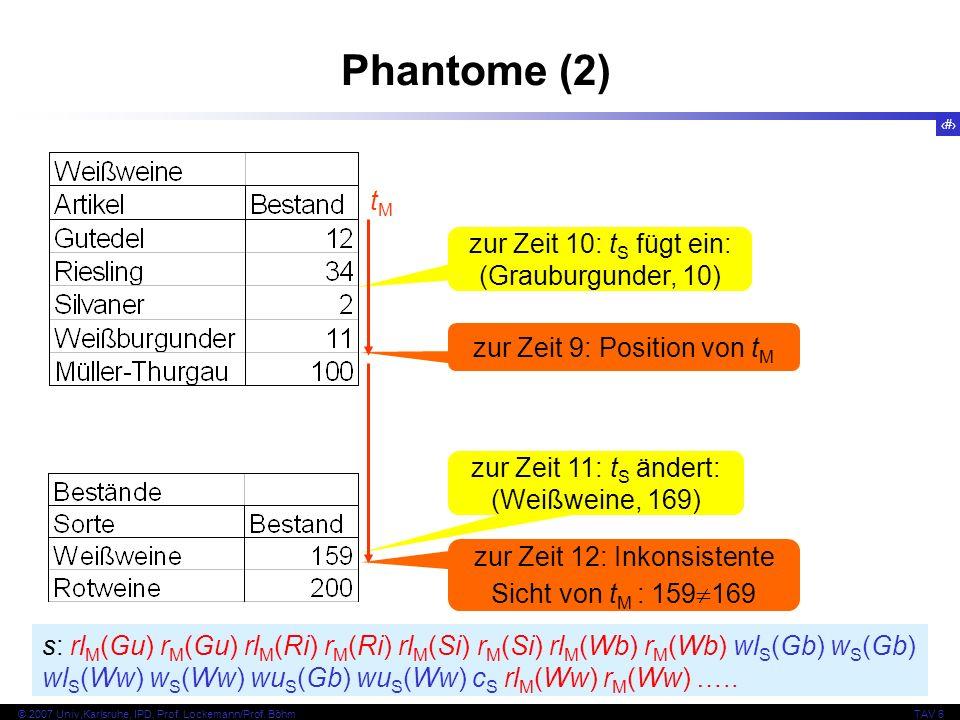 Phantome (2) tM zur Zeit 10: tS fügt ein: (Grauburgunder, 10)