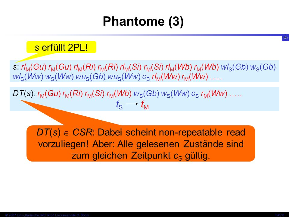 Phantome (3) s erfüllt 2PL! tS tM