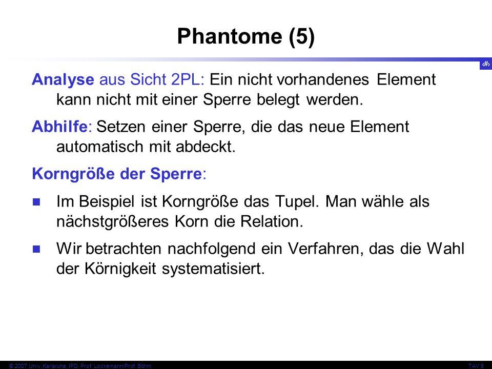 Phantome (5) Analyse aus Sicht 2PL: Ein nicht vorhandenes Element kann nicht mit einer Sperre belegt werden.