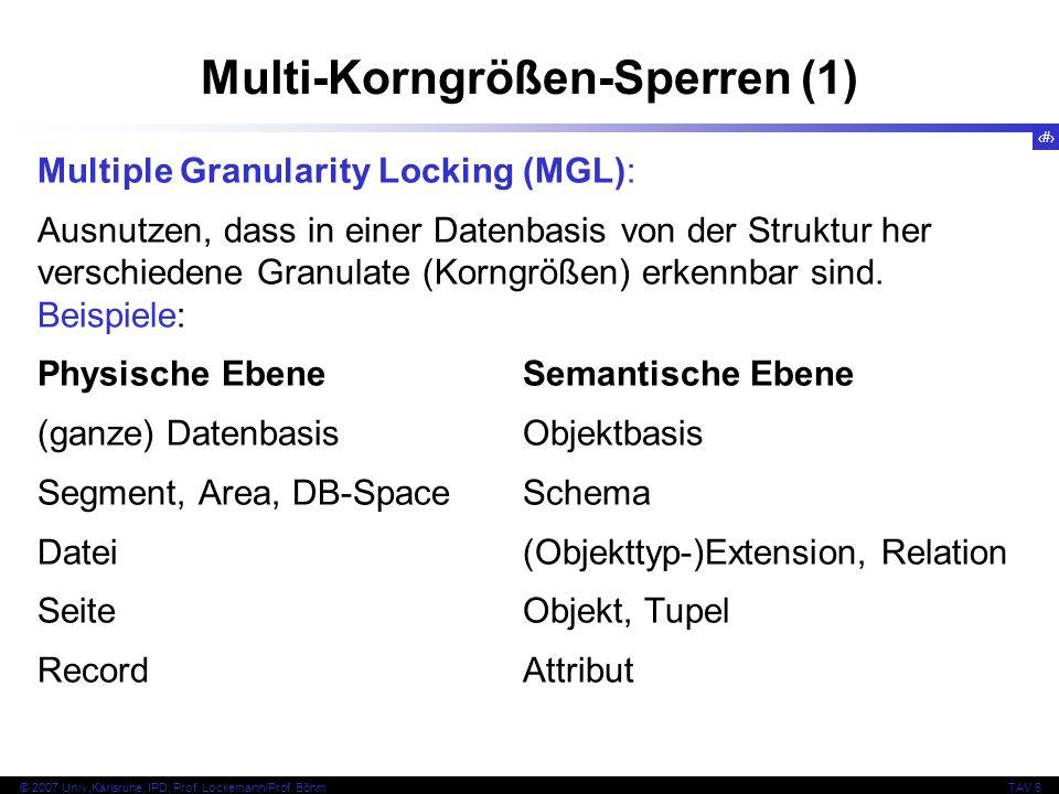Multi-Korngrößen-Sperren (1)
