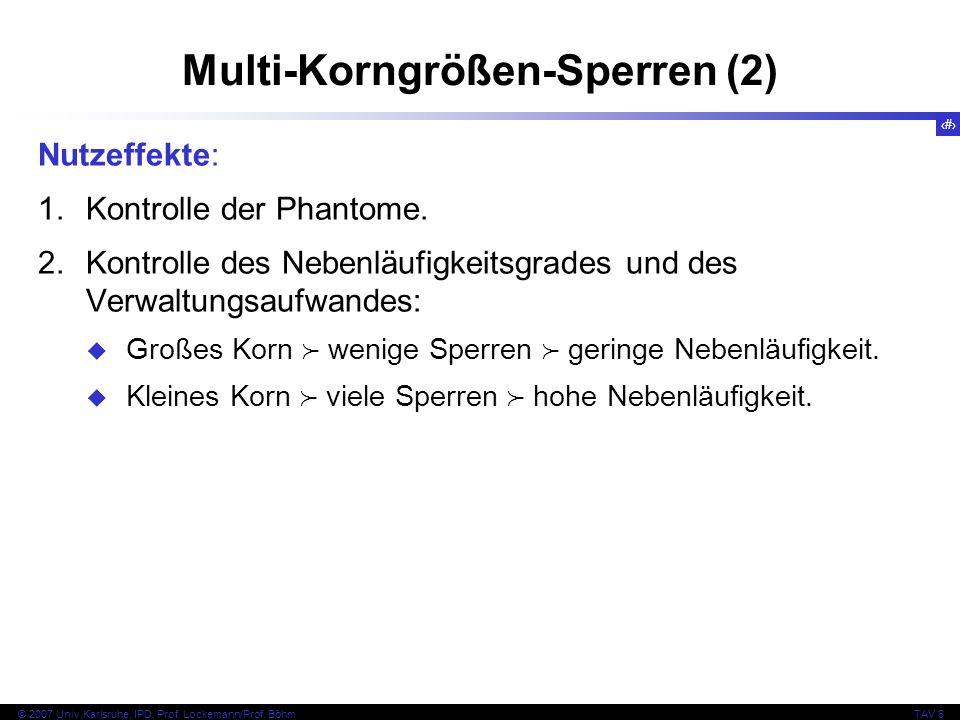Multi-Korngrößen-Sperren (2)
