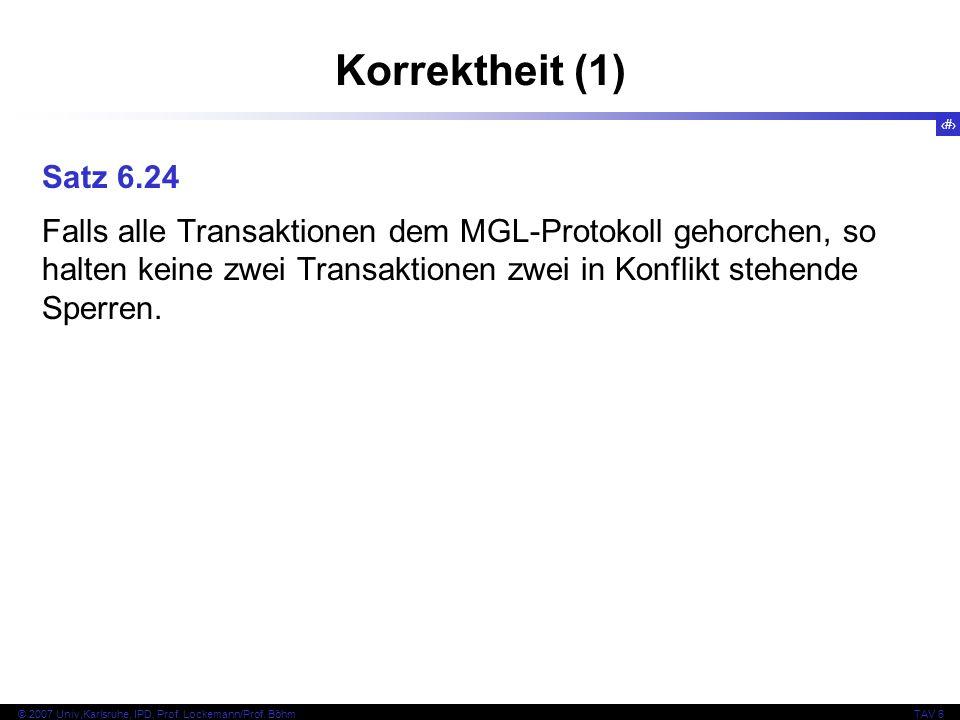Korrektheit (1) Satz 6.24.