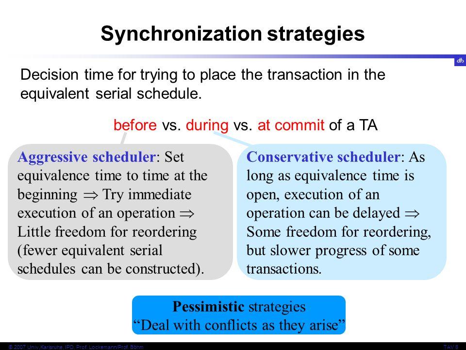 Synchronization strategies