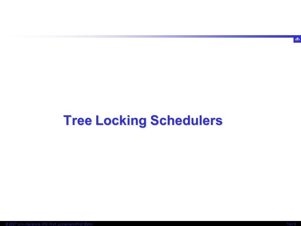 Tree Locking Schedulers