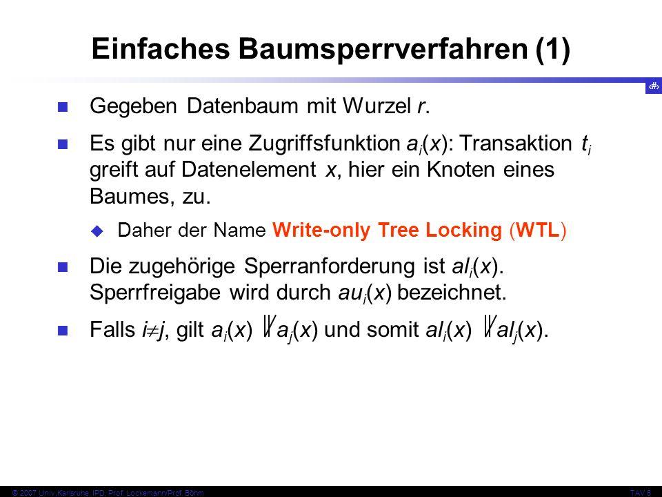 Einfaches Baumsperrverfahren (1)