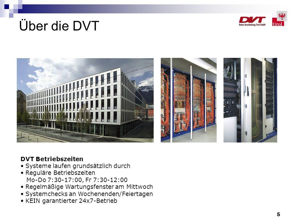 Über die DVT DVT Betriebszeiten Systeme laufen grundsätzlich durch