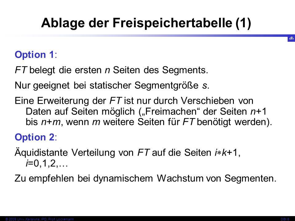 Ablage der Freispeichertabelle (1)