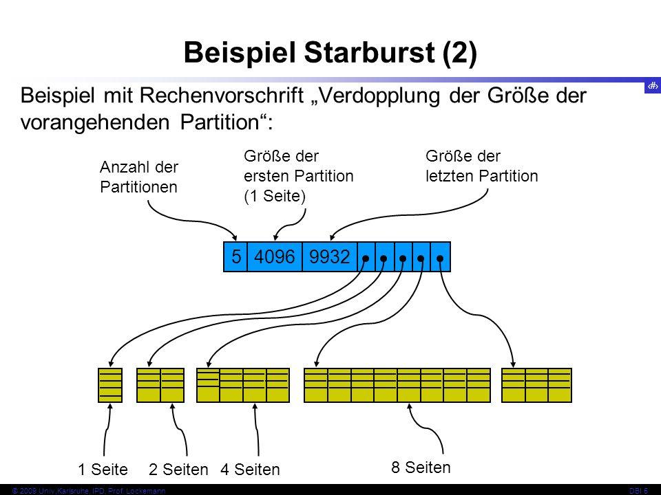 """Beispiel Starburst (2) Beispiel mit Rechenvorschrift """"Verdopplung der Größe der vorangehenden Partition :"""