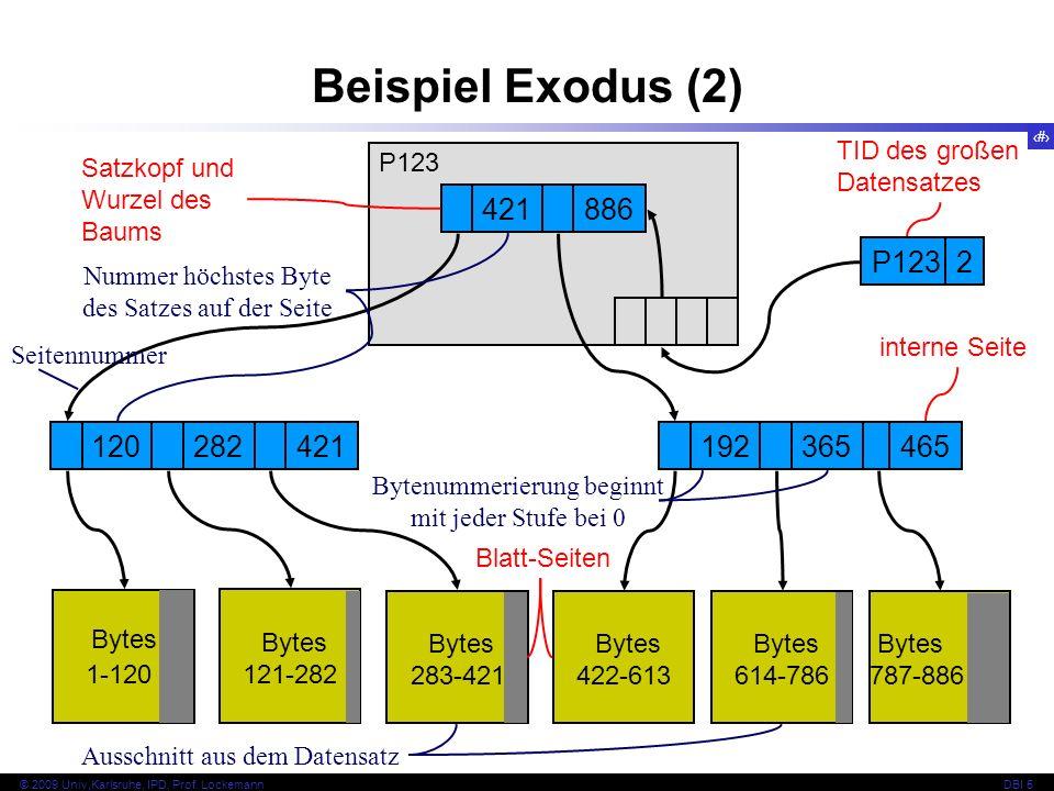 Beispiel Exodus (2) 421 886 P123 2 120 282 421 192 365 465 Bytes Bytes
