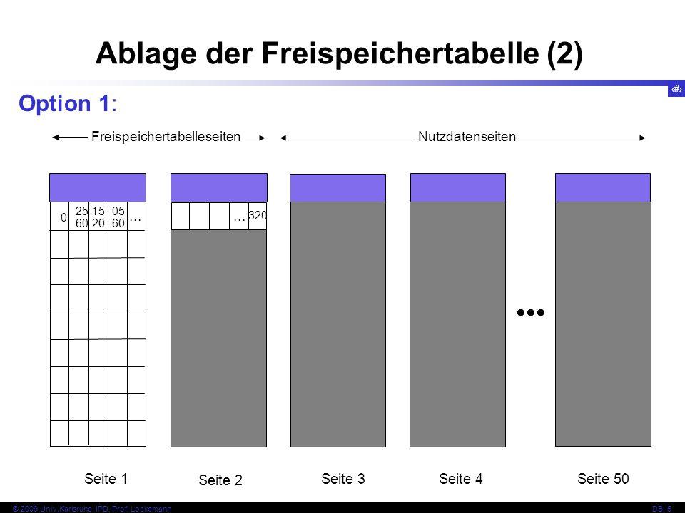 Ablage der Freispeichertabelle (2)