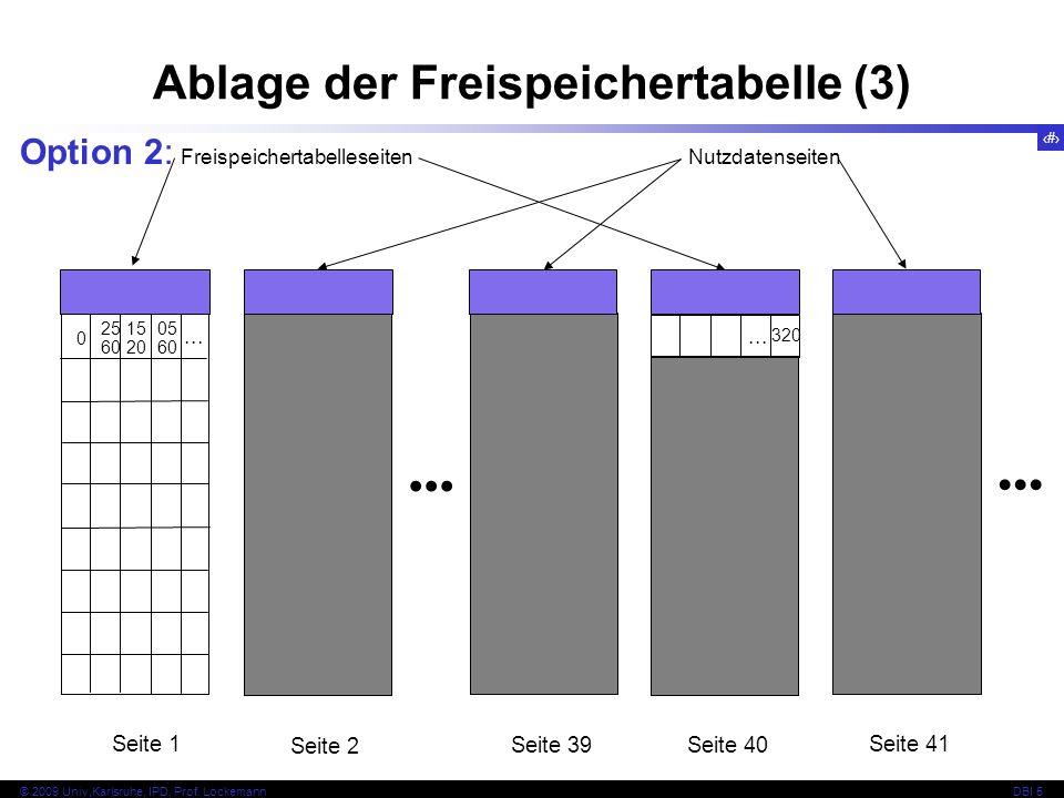 Ablage der Freispeichertabelle (3)