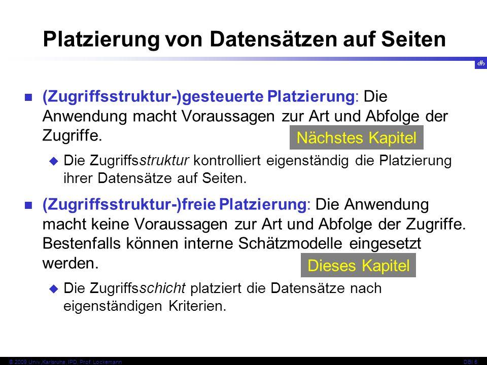 Platzierung von Datensätzen auf Seiten