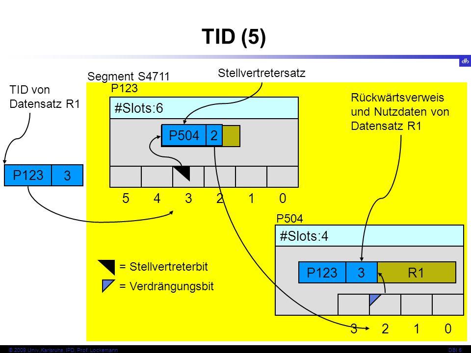 TID (5) P504 2 P123 3 #Slots:6 5 4 3 2 1 R1 #Slots:4 3 2 1 R1 P123 3
