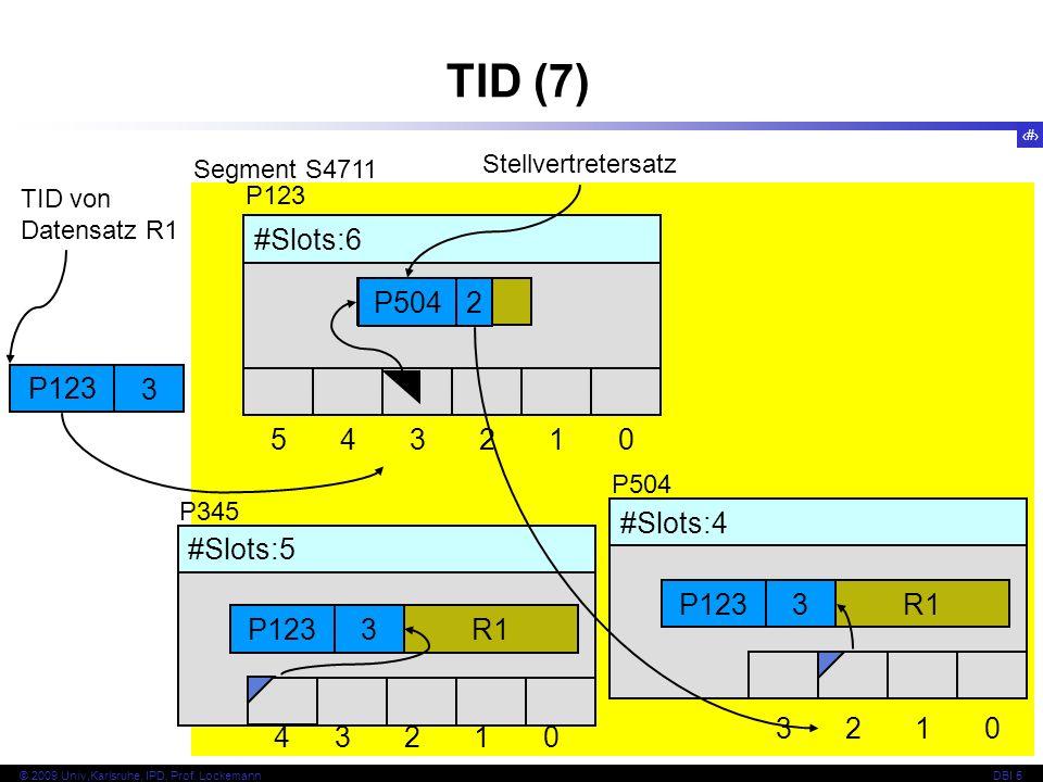 TID (7) P504 2 P123 3 #Slots:6 5 4 3 2 1 R1 #Slots:4 3 2 1 3 2 1 4