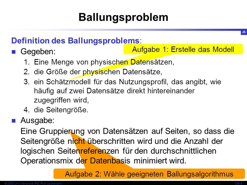 Ballungsproblem Definition des Ballungsproblems: Gegeben: Ausgabe: