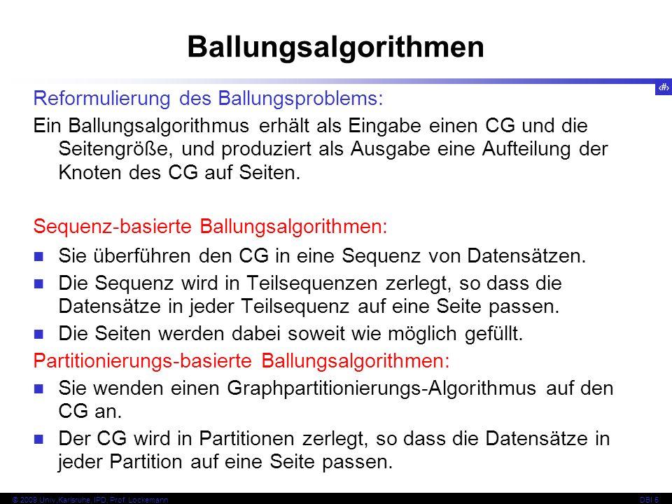 Ballungsalgorithmen Reformulierung des Ballungsproblems:
