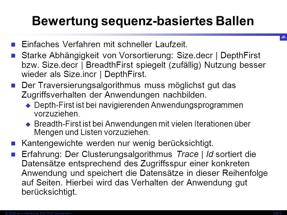 Bewertung sequenz-basiertes Ballen