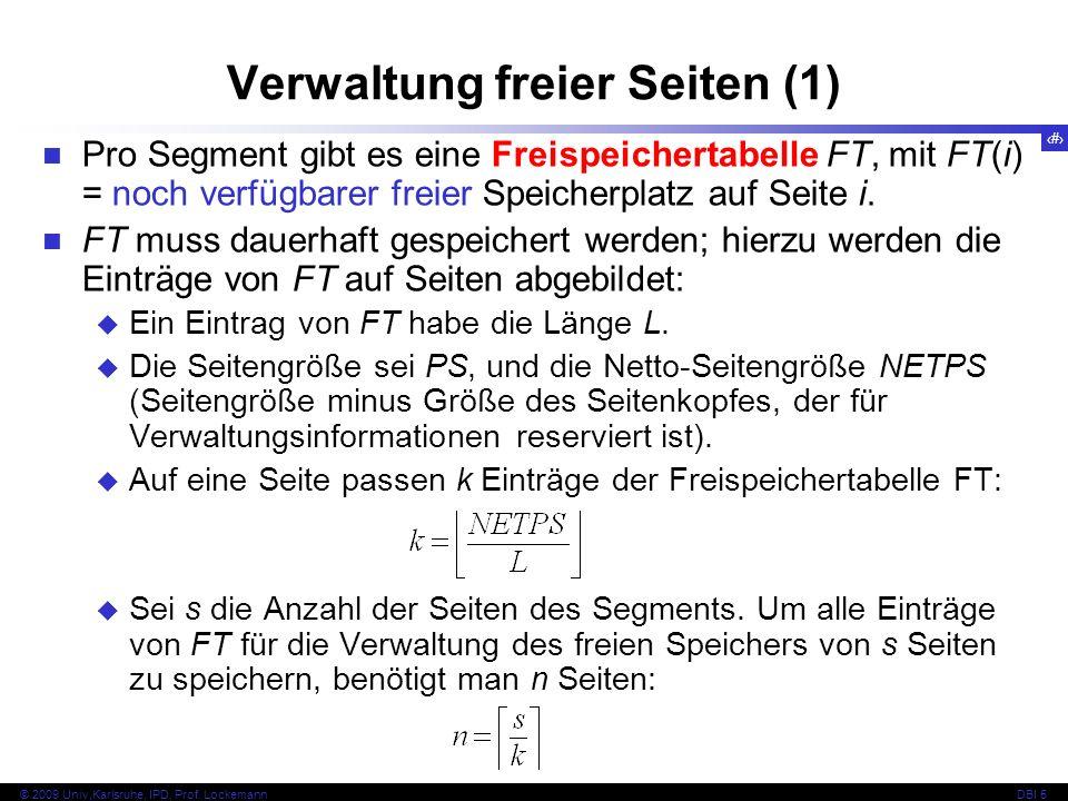 Verwaltung freier Seiten (1)