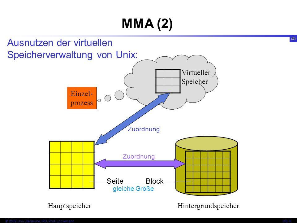 MMA (2) Ausnutzen der virtuellen Speicherverwaltung von Unix: