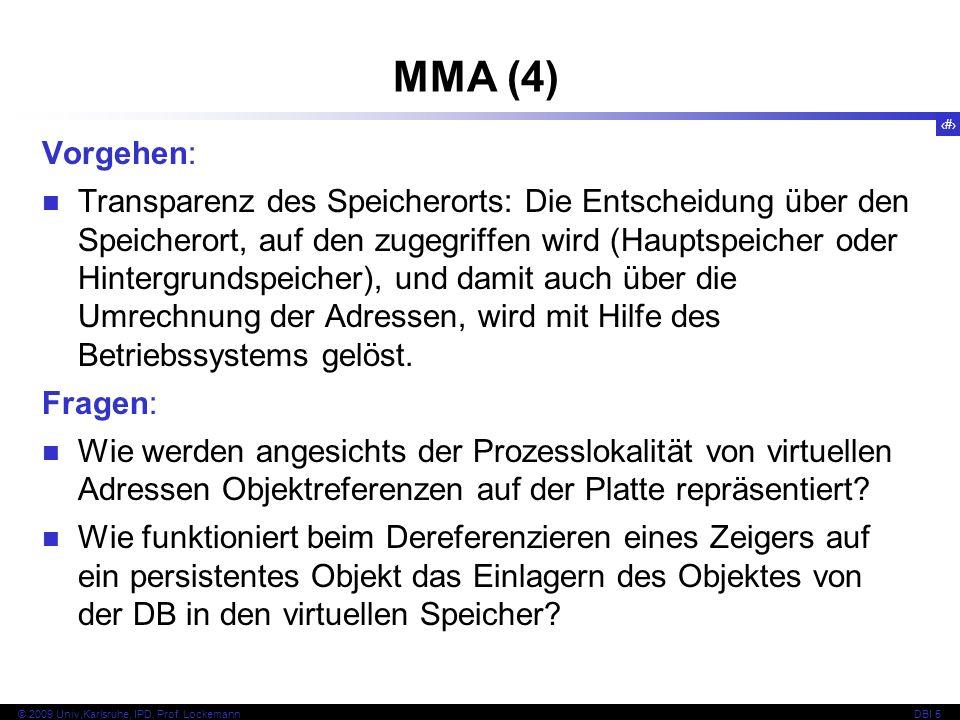 MMA (4) Vorgehen:
