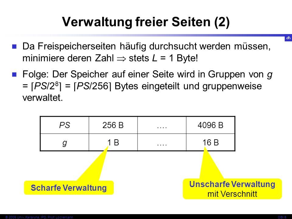 Verwaltung freier Seiten (2)