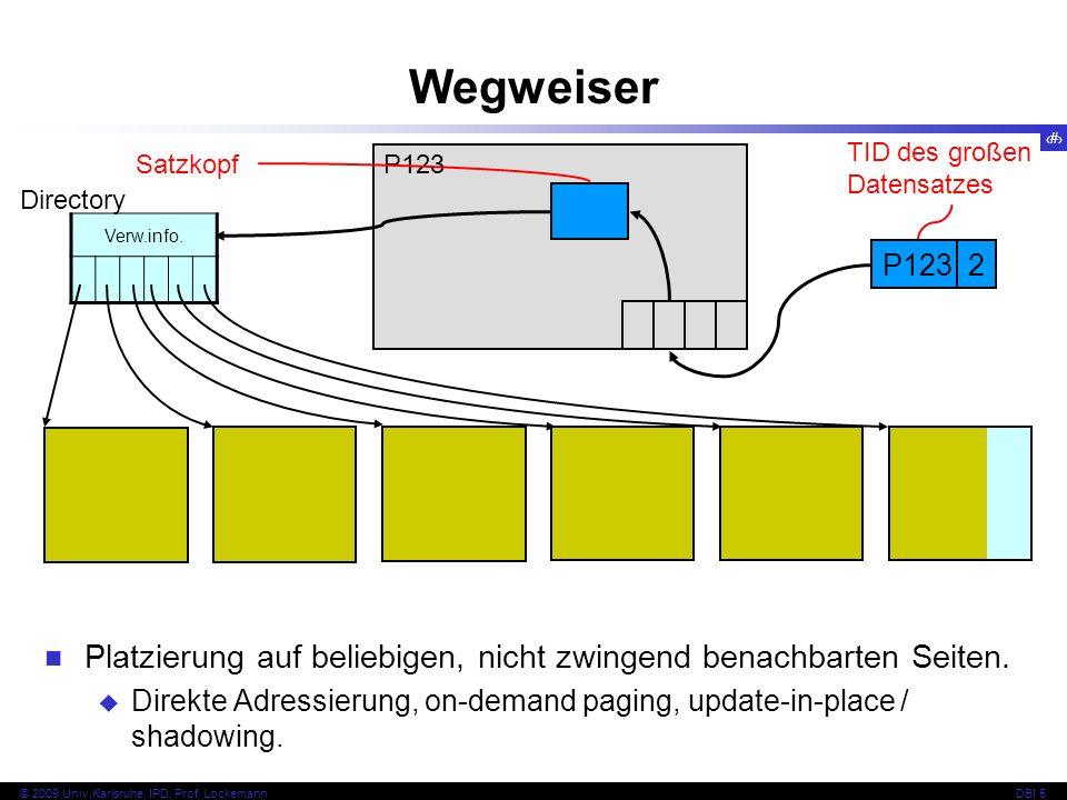 Wegweiser TID des großen Datensatzes. Satzkopf. P123. Directory. Verw.info. P123. 2.