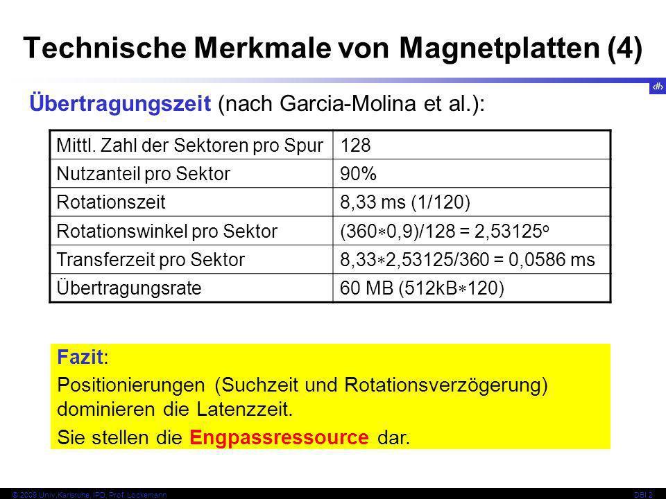 Technische Merkmale von Magnetplatten (4)