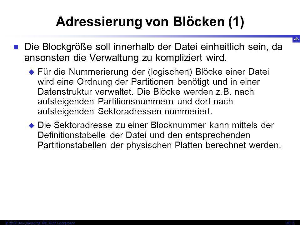 Adressierung von Blöcken (1)