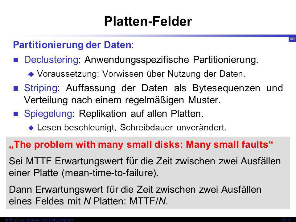 Platten-Felder Partitionierung der Daten: