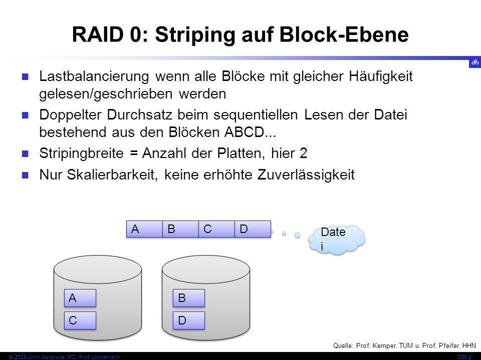 RAID 0: Striping auf Block-Ebene