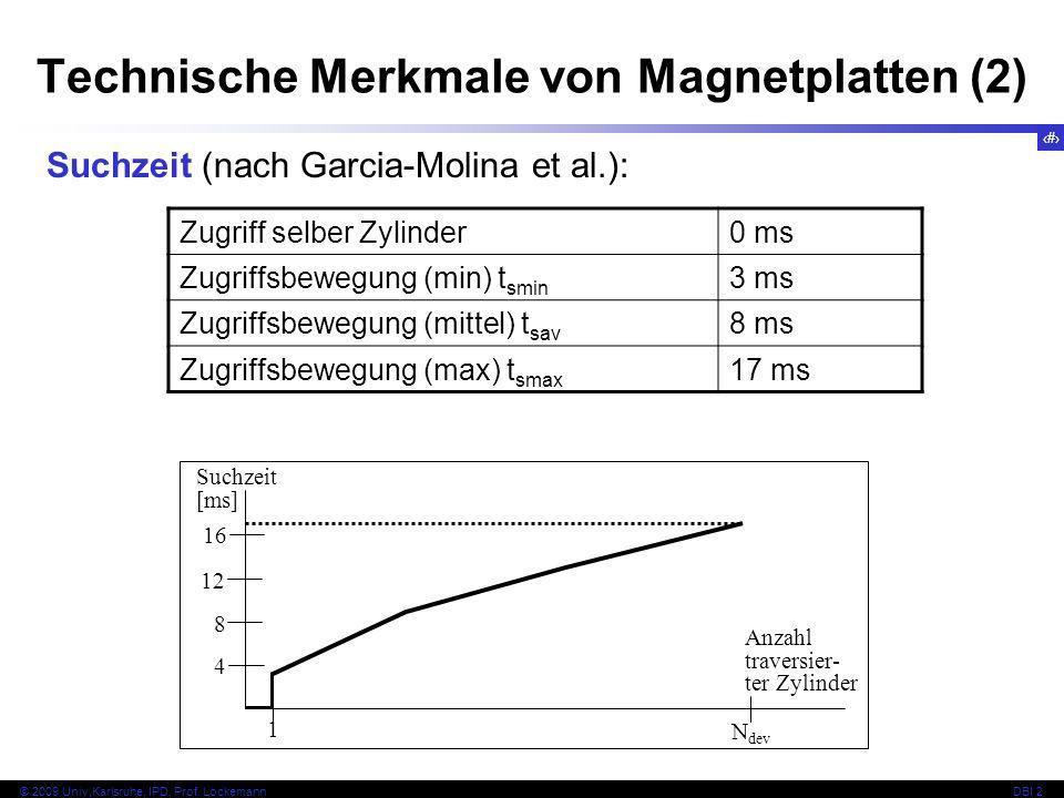 Technische Merkmale von Magnetplatten (2)