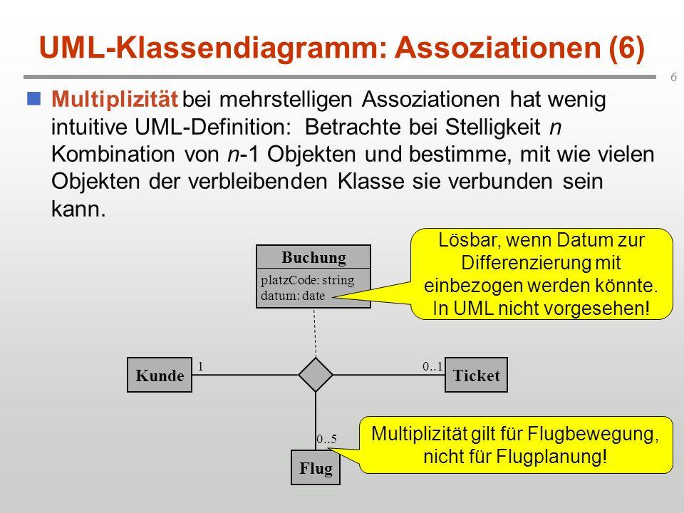 UML-Klassendiagramm: Assoziationen (6)