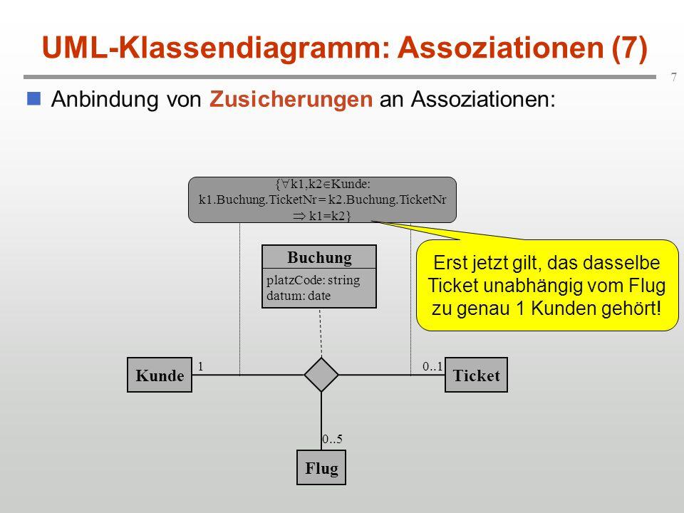 UML-Klassendiagramm: Assoziationen (7)