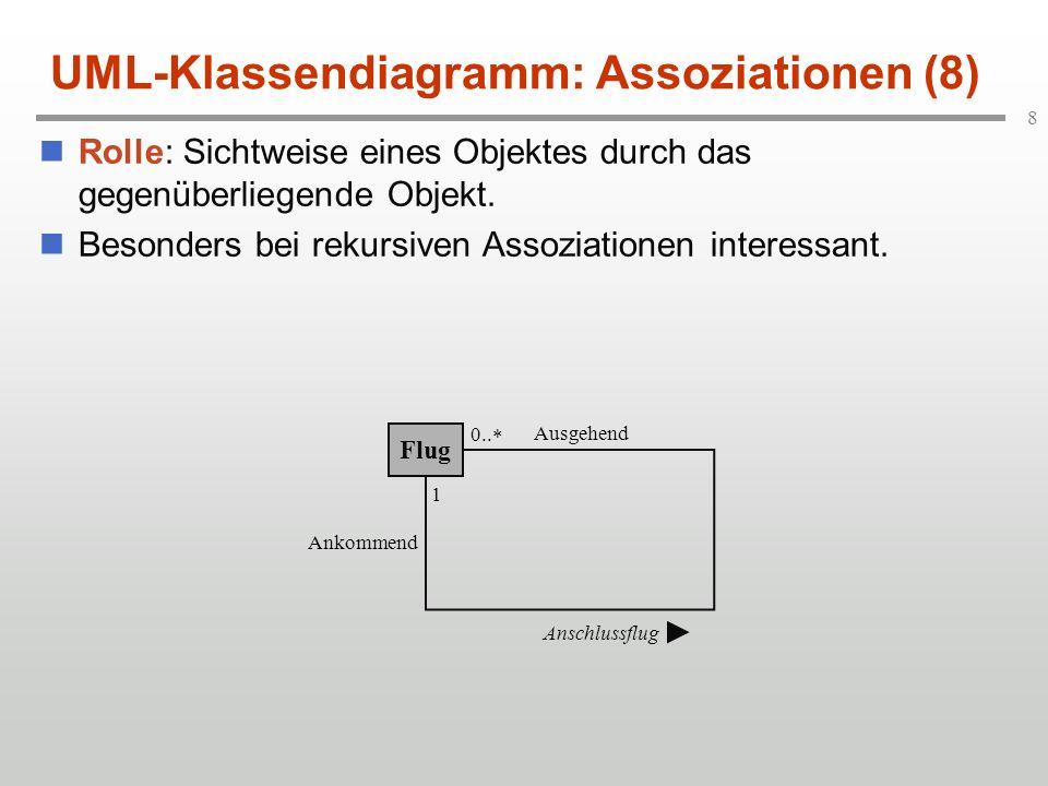 UML-Klassendiagramm: Assoziationen (8)