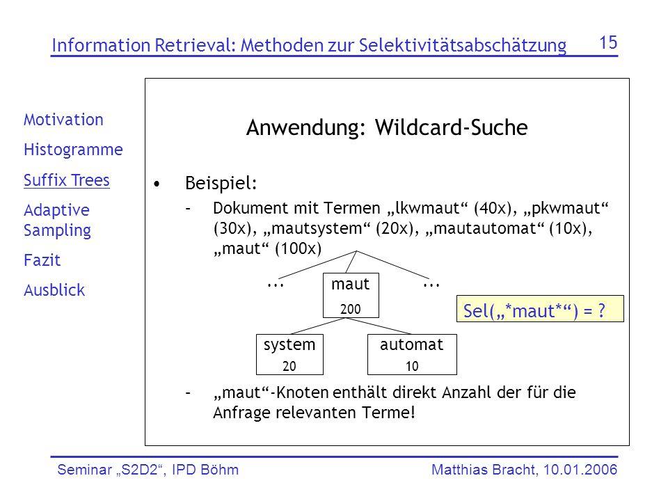 Anwendung: Wildcard-Suche
