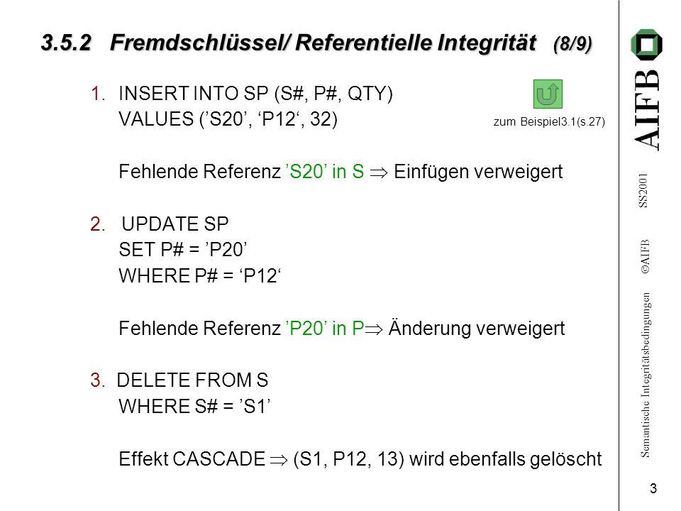 3.5.2 Fremdschlüssel/ Referentielle Integrität (8/9)