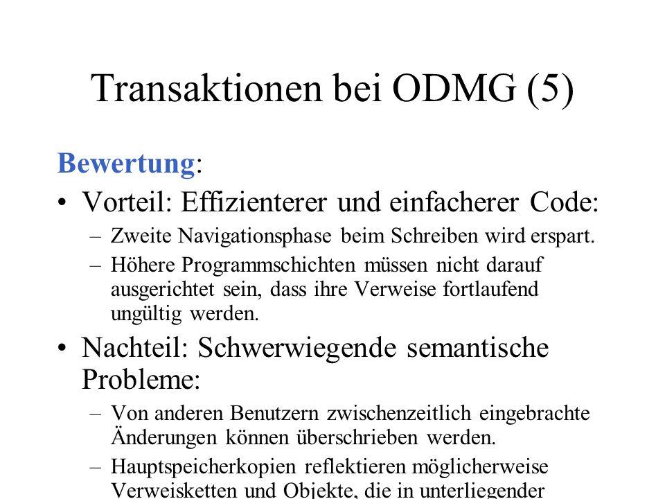 Transaktionen bei ODMG (5)